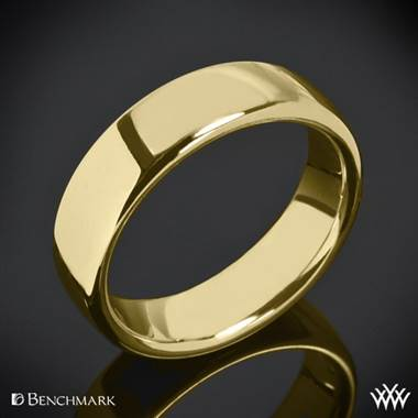 18k Yellow Gold 6.5mm Benchmark European Comfort Fit Wedding Ring