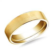 18K Yellow Gold 6mm Comfort-Fit Satin-Finished Carved Design Band | B2C Jewels