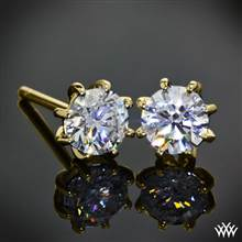 "18k Yellow Gold 8-Prong ""Martini"" Diamond Earrings -- Settings Only 
