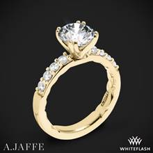 18k Yellow Gold A. Jaffe ME1401Q Classics Diamond Engagement Ring | Whiteflash
