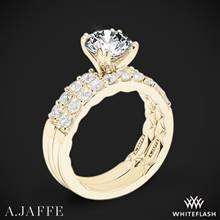 18k Yellow Gold A. Jaffe ME1401Q Classics Diamond Wedding Set | Whiteflash