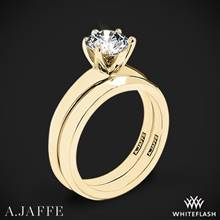 18k Yellow Gold A. Jaffe ME1560 Classics Solitaire Wedding Set | Whiteflash