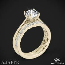 18k Yellow Gold A. Jaffe ME1569Q Seasons of Love Solitaire Wedding Set | Whiteflash