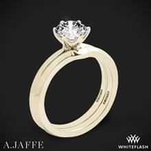 18k Yellow Gold A. Jaffe ME1689 Classics Solitaire Wedding Set | Whiteflash
