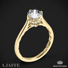 18k Yellow Gold A. Jaffe ME1846Q Art Deco Solitaire Engagement Ring | Whiteflash