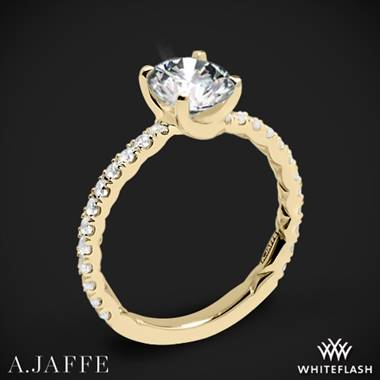 18k Yellow Gold A. Jaffe ME1850Q Classics Diamond Engagement Ring