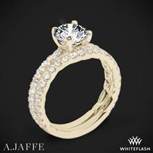 18k Yellow Gold A. Jaffe ME1850Q Classics Diamond Wedding Set | Whiteflash