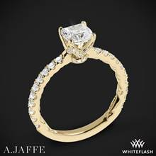 18k Yellow Gold A. Jaffe ME1851Q Art Deco Diamond Engagement Ring | Whiteflash
