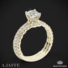 18k Yellow Gold A. Jaffe ME1851Q Art Deco Diamond Wedding Set | Whiteflash