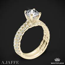 18k Yellow Gold A. Jaffe ME1853Q Classics Diamond Wedding Set | Whiteflash