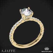 18k Yellow Gold A. Jaffe ME1865Q Classics Diamond Engagement Ring | Whiteflash