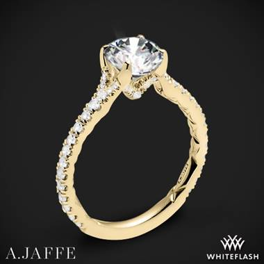 18k Yellow Gold A. Jaffe ME2003QB Seasons of Love Diamond Engagement Ring