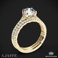 18k Yellow Gold A. Jaffe ME2003QB Seasons of Love Diamond Wedding Set   Whiteflash