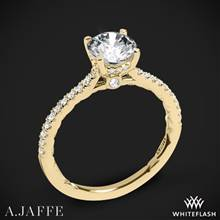 18k Yellow Gold A. Jaffe ME2029Q Classics Diamond Engagement Ring | Whiteflash