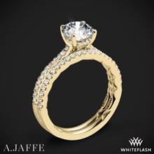 18k Yellow Gold A. Jaffe ME2029Q Classics Diamond Wedding Set | Whiteflash