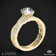 18k Yellow Gold A. Jaffe ME2036Q Seasons of Love Diamond Wedding Set | Whiteflash