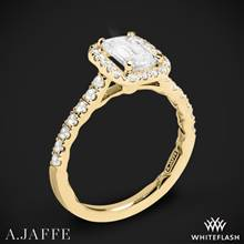 18k Yellow Gold A. Jaffe ME2051Q Seasons of Love Halo Diamond Engagement Ring | Whiteflash