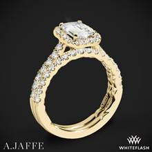 18k Yellow Gold A. Jaffe ME2051Q Seasons of Love Halo Diamond Wedding Set | Whiteflash