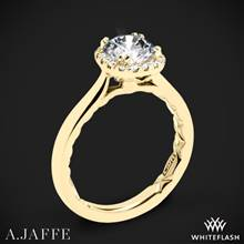 18k Yellow Gold A. Jaffe ME2053Q Halo Diamond Engagement Ring | Whiteflash
