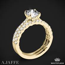18k Yellow Gold A. Jaffe ME2141Q Diamond Wedding Set | Whiteflash