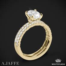 18k Yellow Gold A. Jaffe ME2175Q Classics Diamond Wedding Set | Whiteflash