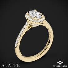 18k Yellow Gold A. Jaffe ME2181Q Seasons of Love Halo Diamond Engagement Ring | Whiteflash
