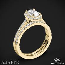 18k Yellow Gold A. Jaffe ME2181Q Seasons of Love Halo Diamond Wedding Set | Whiteflash