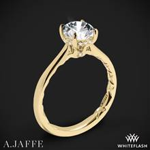 18k Yellow Gold A. Jaffe ME2211Q Solitaire Engagement Ring | Whiteflash