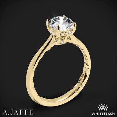 18k Yellow Gold A. Jaffe ME2211Q Solitaire Engagement Ring