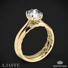 18k Yellow Gold A. Jaffe ME2211Q Solitaire Wedding Set | Whiteflash