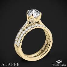 18k Yellow Gold A. Jaffe ME2252Q Diamond Wedding Set | Whiteflash