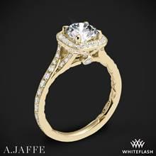 18k Yellow Gold A. Jaffe ME2256Q Halo Diamond Engagement Ring | Whiteflash