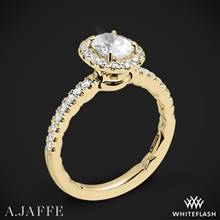18k Yellow Gold A. Jaffe ME2264Q Pirouette Halo Diamond Engagement Ring | Whiteflash