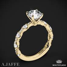 18k Yellow Gold A. Jaffe ME2303Q Diamond Engagement Ring | Whiteflash