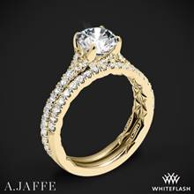 18k Yellow Gold A. Jaffe ME3001QB Diamond Wedding Set | Whiteflash