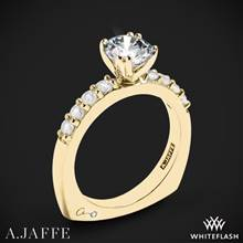 18k Yellow Gold A. Jaffe MES078 Classics Diamond Engagement Ring | Whiteflash