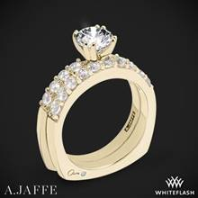 18k Yellow Gold A. Jaffe MES078 Classics Diamond Wedding Set | Whiteflash