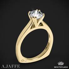 18k Yellow Gold A. Jaffe MES166 Classics Solitaire Engagement Ring | Whiteflash