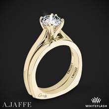 18k Yellow Gold A. Jaffe MES166 Classics Solitaire Wedding Set | Whiteflash