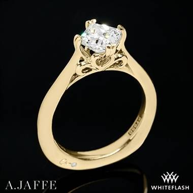 18k Yellow Gold A. Jaffe MES438 Seasons of Love Solitaire Engagement Ring