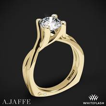 18k Yellow Gold A. Jaffe MES463 Seasons of Love Solitaire Engagement Ring | Whiteflash