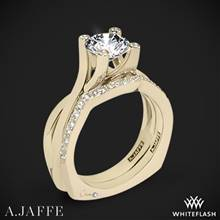 18k Yellow Gold A. Jaffe MES463 Seasons of Love Solitaire Wedding Set | Whiteflash