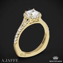 18k Yellow Gold A. Jaffe MES576 Metropolitan Halo Diamond Engagement Ring   Whiteflash