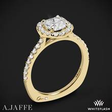 18k Yellow Gold A. Jaffe MES577 Metropolitan Halo Diamond Engagement Ring | Whiteflash