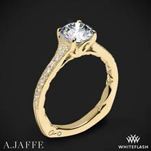 18k Yellow Gold A. Jaffe MES738Q Art Deco Diamond Engagement Ring | Whiteflash
