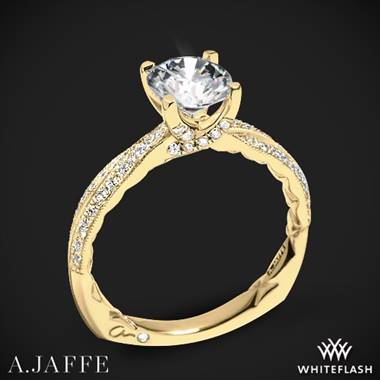 18k Yellow Gold A. Jaffe MES740Q Seasons of Love Diamond Engagement Ring