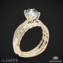 18k Yellow Gold A. Jaffe MES740Q Seasons of Love Diamond Wedding Set | Whiteflash