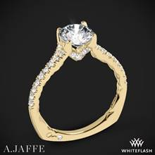 18k Yellow Gold A. Jaffe MES742QB Classics Diamond Engagement Ring | Whiteflash
