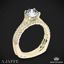 18k Yellow Gold A. Jaffe MES742QB Classics Diamond Wedding Set | Whiteflash