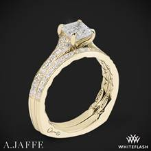 18k Yellow Gold A. Jaffe MES753Q Seasons of Love Diamond Wedding Set | Whiteflash